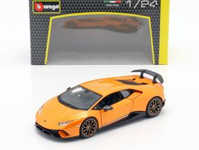 Lamborghini Huracan Performante year 2017 orange metallic 1:24 Bburago