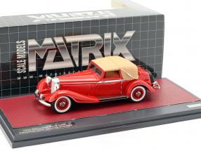 Mercedes-Benz 500K DHC Corsica Closed Top year 1935 red 1:43 Matrix