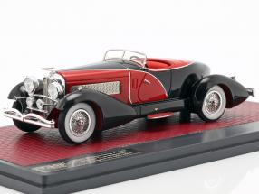 Duesenberg J SWB French True Speedster by Figoni 1931 black / red 1:43 Matrix
