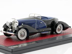 Duesenberg J SWB French True Speedster by Figoni 1931 black / blue 1:43 Matrix