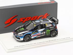 Volkswagen VW Polo GTi RX Supercar #11 3rd World RX of Portugal 2018 Solberg 1:43 Spark