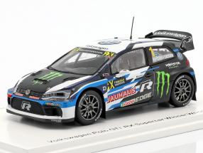 Volkswagen VW Polo GTi RX Supercar #1 Winner World RX of USA 2018 Kristoffersson 1:43 Spark