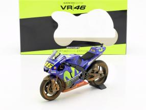 V. Rossi Yamaha YZR-M1 Dirty Version #46 MotoGP Malaysia 2017 1:12 Minichamps
