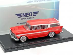 Rambler Custom Cross Country 6 Station Wagon Baujahr 1958 rot 1:43 Neo