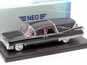 Cadillac Superior Crown Royale Landau Leichenwagen 1959 schwarz 1:43 Neo