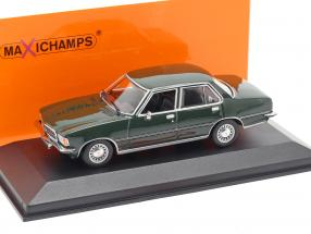 Opel Rekord D year 1975 dark green 1:43 Minichamps