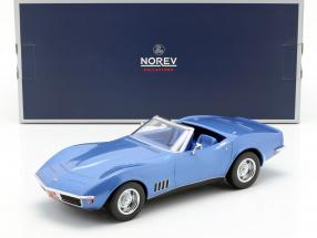 Chevrolet Corvette Convertible year 1969 blue metallic 1:18 Norev