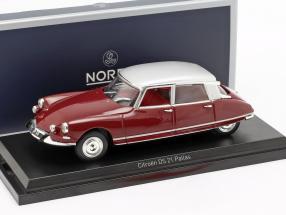 Citroen DS21 Pallas year 1967 dark red / silver 1:43 Norev