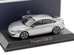 Peugeot 508 GT year 2018 artense grey 1:43 Norev