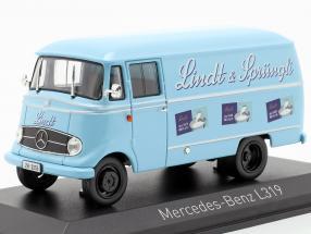 Mercedes-Benz L319 Lindt & Sprüngli year 1957 light blue 1:43 Norev