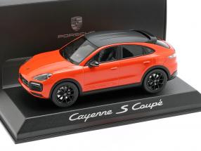 Porsche Cayenne S coupe year 2019 orange 1:43 Norev