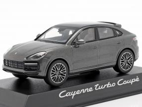 Porsche Cayenne Turbo coupe year 2019 dark gray metallic 1:43 Norev