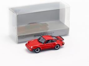 Porsche 911 Turbo (930) year 1977 red 1:87 Minichamps