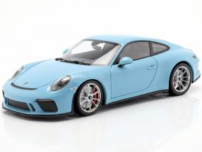 Porsche 911 (991 II) GT3 Touring year 2018 blue 1:18 Minichamps