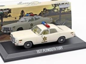 Plymouth Fury Hazard County Sheriff year 1977 white 1:43 Greenlight