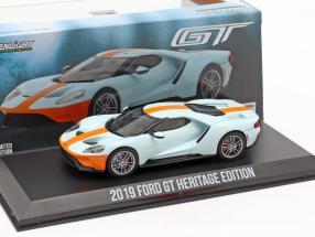 Ford GT Heritage Edition Gulf 2019 light blue / orange 1:43 Greenlight