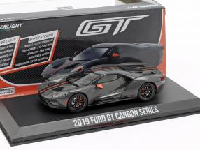 Ford GT Carbon Series 2019 greyy / black / orange 1:43 Greenlight