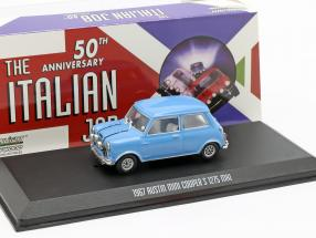 Austin Mini Cooper S 1275 MK1 1967 Movie The Italian Job (1969) blue 1:43 Greenlight