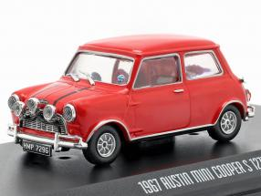 Austin Mini Cooper S 1275 MK1 1967 Movie The Italian Job (1969) red 1:43 Greenlight