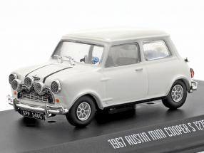 Austin Mini Cooper S 1275 MK1 1967 Movie The Italian Job (1969) white 1:43 Greenlight