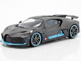 Bugatti Divo year 2018 mat grey / light blue 1:18 Bburago