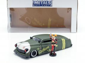 Mercury year 1951 with Harley Quinn DC Comics olive green / silver 1:24 Jada Toys