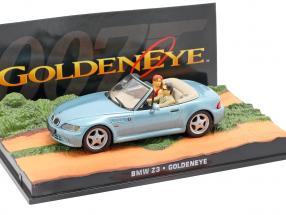 BMW Z3 James Bond movie Goldeneye Car light blue metallic 1:43 Ixo
