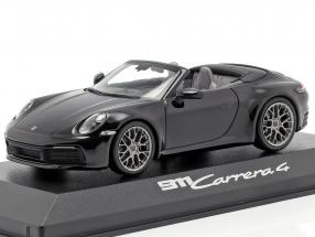 Porsche 911 (992) Carrera 4 Cabriolet black 1:43 Minichamps