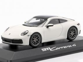 Porsche 911 (992) Carrera 4 white / black 1:43 Minichamps