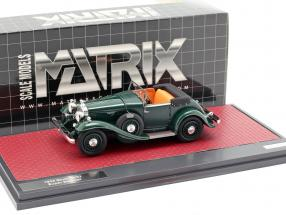 Stutz DV32 Super Bearcat Open year 1932 dark green 1:43 Matrix