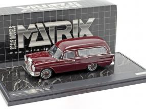 Mercedes-Benz 220SE (W111) Pollmann Hearse year 1966 dark red 1:43 Matrix