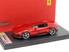Ferrari Monza SP1 Presentation salon Paris 2018 red metallic 1:43 LookSmart