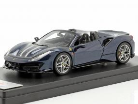 Ferrari 488 Pista Spyder dark blue metallic 1:43 LookSmart