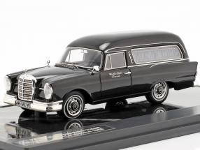 Mercedes-Benz 220SE (W111) Pollmann Hearse year 1966 black 1:43 Matrix