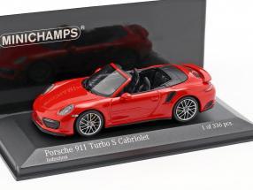 Porsche 911 (991.2) Turbo S Cabriolet year 2016 1:43 Minichamps