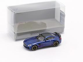 Mercedes-Benz AMG GT-R year 2017 blue metallic 1:87 Minichamps
