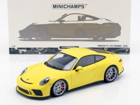Porsche 911 (991/2) GT3 Touring year 2018 yellow 1:18 Minichamps