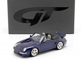 Porsche 911 (993) Turbo Cabriolet year 1995 dark blue 1:18 GT-Spirit