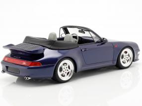 Porsche 911 (993) Turbo Cabriolet year 1995 dark blue  GT-Spirit