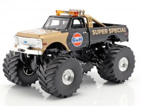 Chevrolet K-10 Gulf Super Special Monster Truck 1971 black / gold 1:43 Greenlight