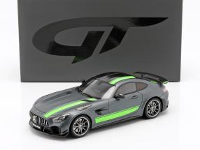 Mercedes-Benz AMG GT-R Pro year 2019 grey / green 1:18 GT-Spirit
