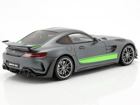 Mercedes-Benz AMG GT-R Pro year 2019 grey / green  GT-Spirit