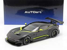 Aston Martin Vulcan year 2015 mat black / lime green 1:18 AUTOart