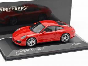 Porsche 911 (991 II) Carrera 4S year 2016 guards red 1:43 Minichamps