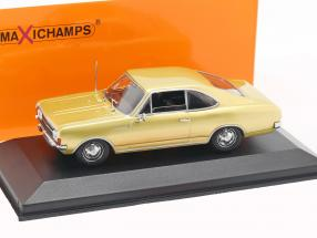 Opel Rekord C coupe year 1966 gold 1:43 Minichamps