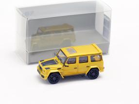 Brabus 850 6.0 Biturbo Widestar based on Mercedes-Benz AMG G63 year 2015 yellow 1:87 Minichamps
