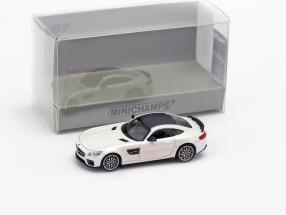 Brabus 600 based on Mercedes-Benz AMG GT S year 2015 White metallic 1:87 Minichamps