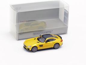 Brabus 600 based on Mercedes-Benz AMG GT S year 2015 yellow metallic 1:87 Minichamps