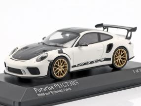 Porsche 911 (991 II) GT3 RS Weissach package year 2018 white 1:43 Minichamps