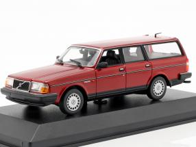 Volvo 240 GL Break year 1986 dark red metallic 1:43 Minichamps